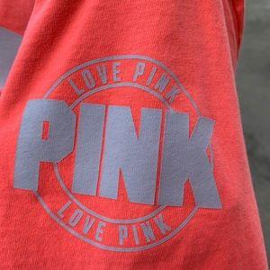 PINK Neon Coral TShirt Short Sleeves
